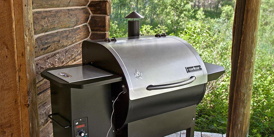 Camp Chef SmokePro Pellet Grill on Patio
