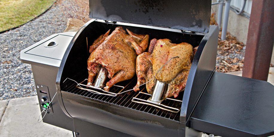 Two turkeys on a SmokePro pellet grill