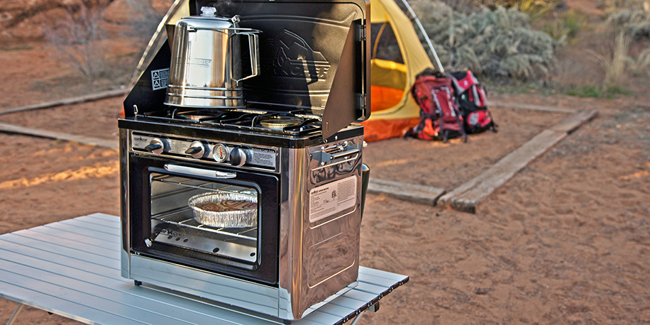 Outdoor oven at a campsite
