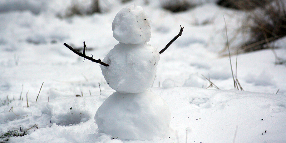 Miniature snowman