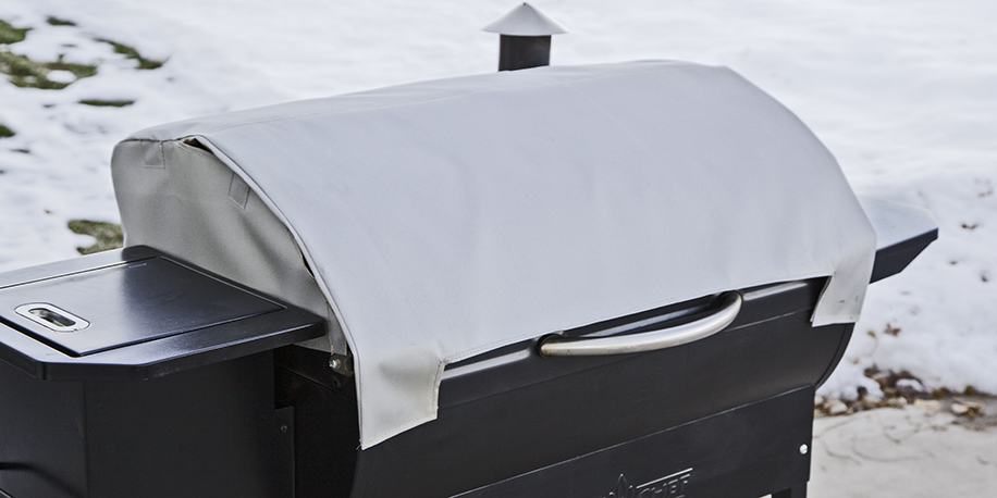 Keep a pellet grill blanket on your grill to maintain the right temperature