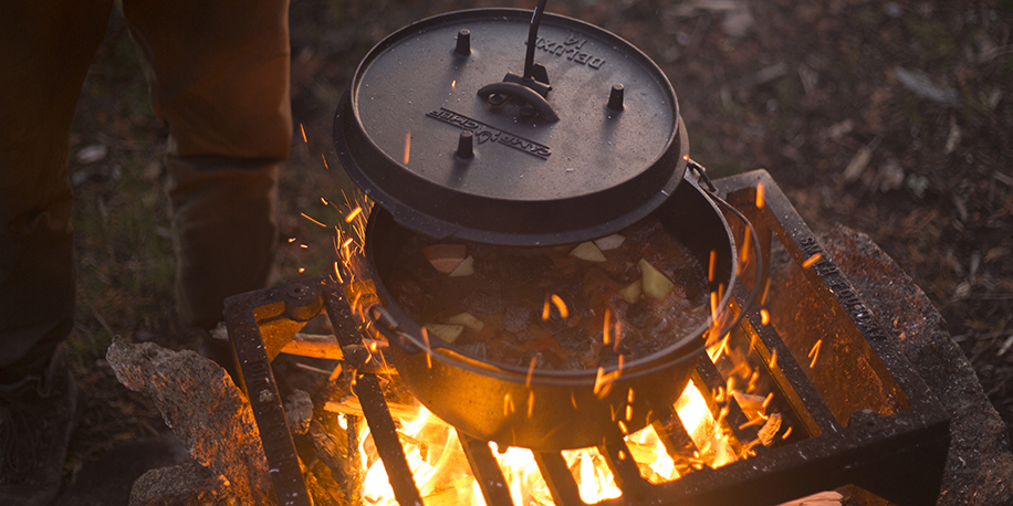 Dutch Oven Cooking Over Fire
