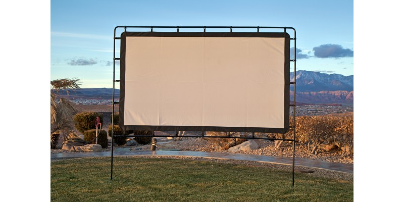 Large Portable Movie Screens : Outdoor entertainment gear big screen quot lite