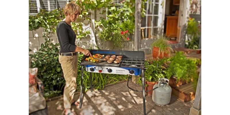 Backyard Griddle expedition 3x triple burner stove w/griddle