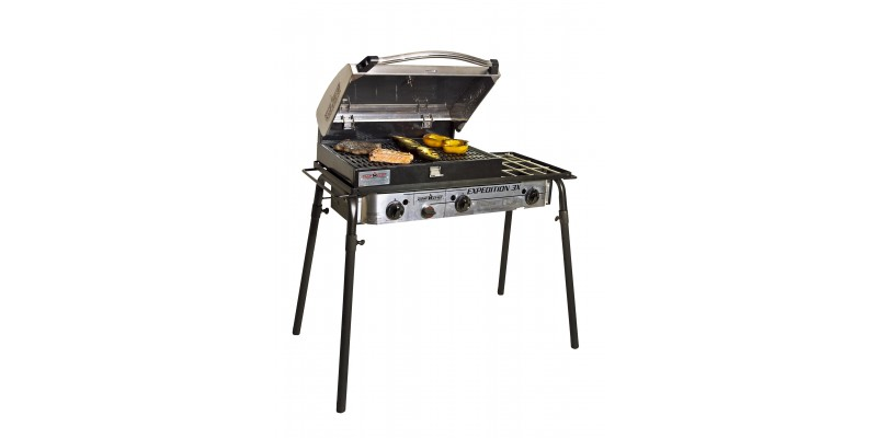 Camp Chef Stainless Steel Barbecue Grill Box 3 Burner Stoves