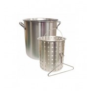 Camp Chef Aluminum Pot + Basket  //  42 Quart
