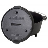 Camp Chef 6 Qt Seasoned Cast Iron Dutch Oven
