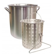 Camp Chef Aluminum Pot + Basket  //  24 Quart