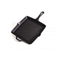 Camp Chef Square + Ribbed Cast Iron Skillet  //  11 Inches