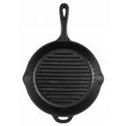 "Camp Chef 12"" Seasoned Cast Iron Skillet with Ribs"
