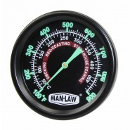 Man Law BBQ series Grill/Smoker Thermometer with Glow in the Dark Dial