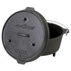 9 1/3 Qt Seasoned Cast Iron Camp Oven