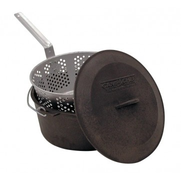 Camp Chef Cast Iron Pot + Basket  //  7 Quart