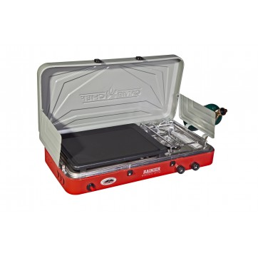 Camp Chef Rainier Two Burner Stove with Griddle