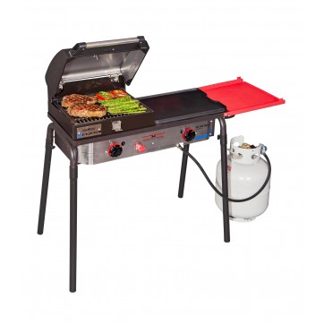 Camp Chef Big Gas Grill Two-Burner Stove with Griddle and BBQ Box