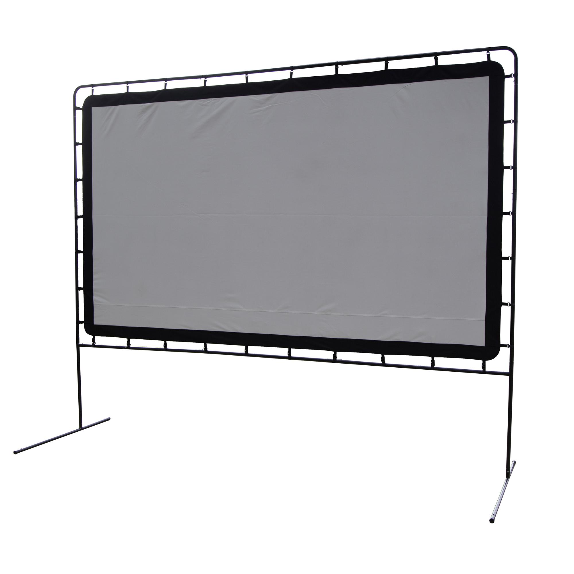 Outdoor entertainment gear portable movie projection for Portable garden screen